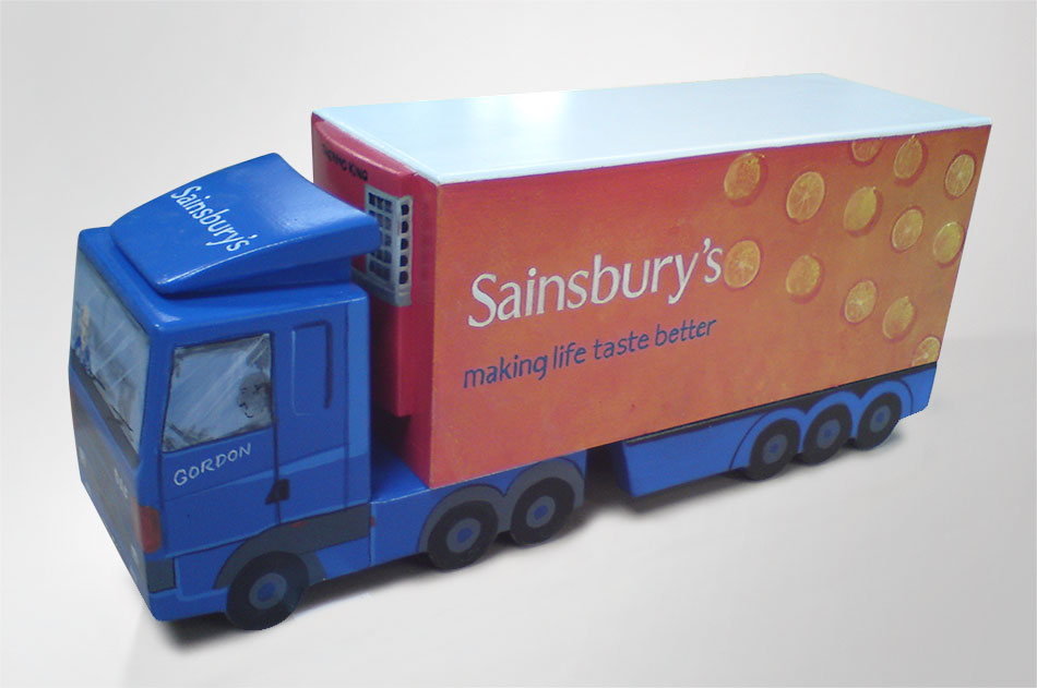 sainburys truck urn
